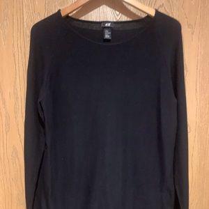 Men's Long Sleeve Black Sweater